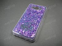 Силиконовый чехол с блестками Samsung Galaxy J7 Neo J701F (фиолетовый), фото 1