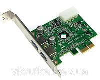 Viewcon VE 583 - 2x портовый USB 3.0 контроллер (плата) PCI-E
