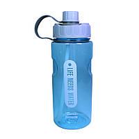 Бутылка для води 1200 мл. пластиковая с трубочкой Fissman