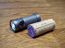 Фонарь Olight S Mini Baton XM-L2 - Stainless Steel GunBlack, фото 2