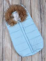 """Конверт для новорожденного """"Дутик Snowman"""" голубой, фото 1"""