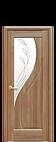 """Межкомнатные двери """"Прима"""" глухое полотно со стеклом сатин и рисунком"""