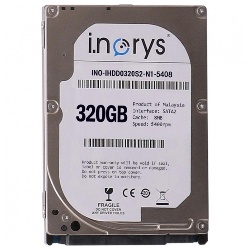 "Жесткий диск i.norys 2,5"" 320GB 5400rpm 8MB (INO-IHDD0320S2-N1-5408) компьютерный"