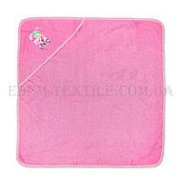 Полотенце для купания с капюшоном 75х75 Eymir, Розовый