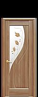 """Межкомнатные двери """"Прима"""" глухое полотно со стеклом сатин и цветным рисунком, фото 1"""