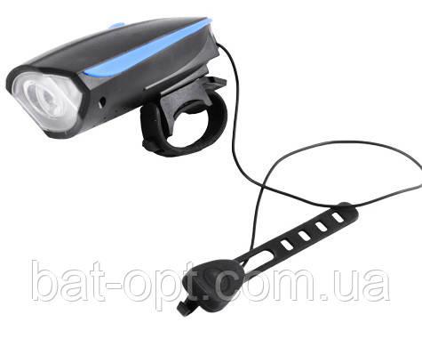 Велосипедный фонарь (звонок + велофара) FY-056