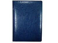 Ежедневник датированный 2018 BRISK OFFICE SARIF Стандарт А4 (21х29) синий с фольгированным торцом