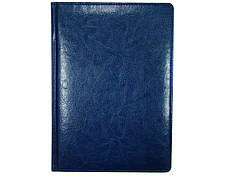 Ежедневник датированный BRISK OFFICE SARIF Стандарт А4 (21х29) синий с фольгированным торцом