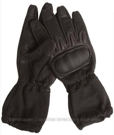 Тактические перчатки MIL-TEC удлиненные огнеупорные Black (12520102), фото 2