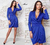 Платье модное с запахом мини трикотаж 4 цвета SMmil2121
