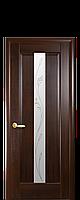 """Межкомнатные двери """"Премьера"""" полотно со стеклом сатин и рисунком, фото 1"""
