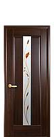 """Межкомнатные двери """"Премьера"""" полотно со стеклом сатин и цветным рисунком, фото 1"""
