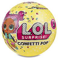 Игровой набор с куклой L.O.L. S3 КОНФЕТТИ 65 видов в ассорт., в дисплее LOL Surprise! (551515)