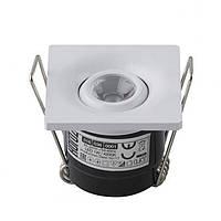 LED Светильник точечный HOROZ ELECTRIC (квадрат) белый LAURA 1W 4200K 70Lm 40х40мм