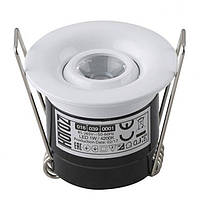 LED Светильник точечный HOROZ ELECTRIC (круг) белый SILVIA 1W 4200K 70Lm металл d-41mm