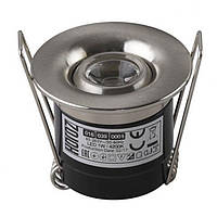 LED Светильник точечный HOROZ ELECTRIC (круг) хром SILVIA 1W 4200K 70Lm металл d-41mm