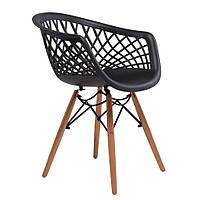 Кресло пластиковое Lace (Лэйс) Concepto, черное