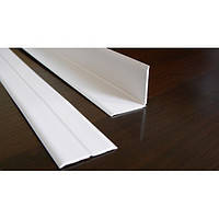 Уголок декоративный пластиковый универсальный защитный белый ясень 25мм*25мм, доставка по Украине