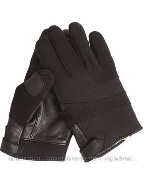 Тактические перчатки MIL-TEC Neopren / Kevlar порезостойкие черные Black (12524002), фото 2