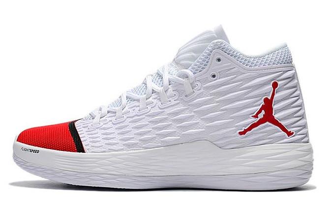 79c7ea43 Кроссовки Nike Air Jordan Melo M13 White/ Red. Живое фото (Реплика ААА+)
