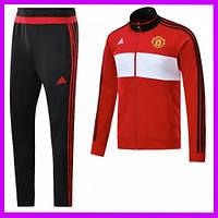 Спортивный костюм Манчестер Юнайтед, Adidas. Тренировочный, футбольный. Сезон 17/18