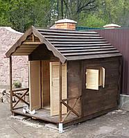 Детский деревянный домик игровой