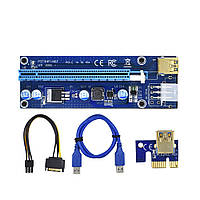 "Рейзер PCE164P-N03 Ver009 Адаптер PCI-Ex1 M -- PCI-Ex16 ""Over-Stock"""