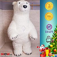 """Пневмокостюм """" Белый Медведь длинный мех """""""