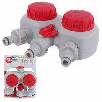 Таймер для подачи воды GE-2012 Intertool с 2-х канальным распределением, 15/30/45/60/75/90/105/120мин, три выхода на конектор 1/2 дюйма автоматическое