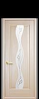 """Межкомнатные двери """"Волна"""" со стеклом сатин и рисунком, фото 1"""