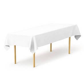Скатерть 1,40*2,50 Белая из ткани Р-195 на стол 0,80*1,80 Прямоугольная, фото 2