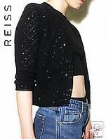 Женская кофта с блестками черная Reiss р. М 46 48