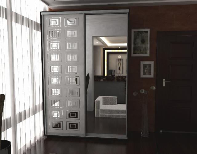 Пескоструй Феникс пескоструйное изображение на две двери (фото 2)