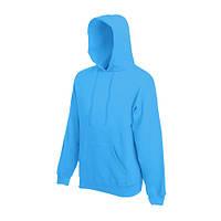 Толстовка с капюшоном FOL Classic Hooded Sweat M, голубой
