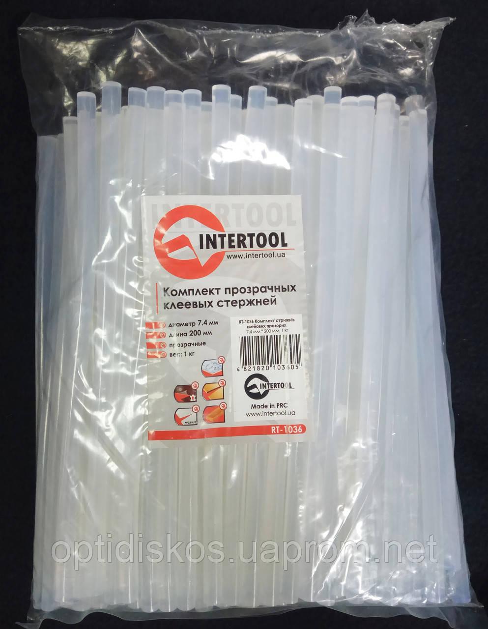 Клеевые стержни (термоклей) Intertool Ø7,4 мм тонкие прозрачные