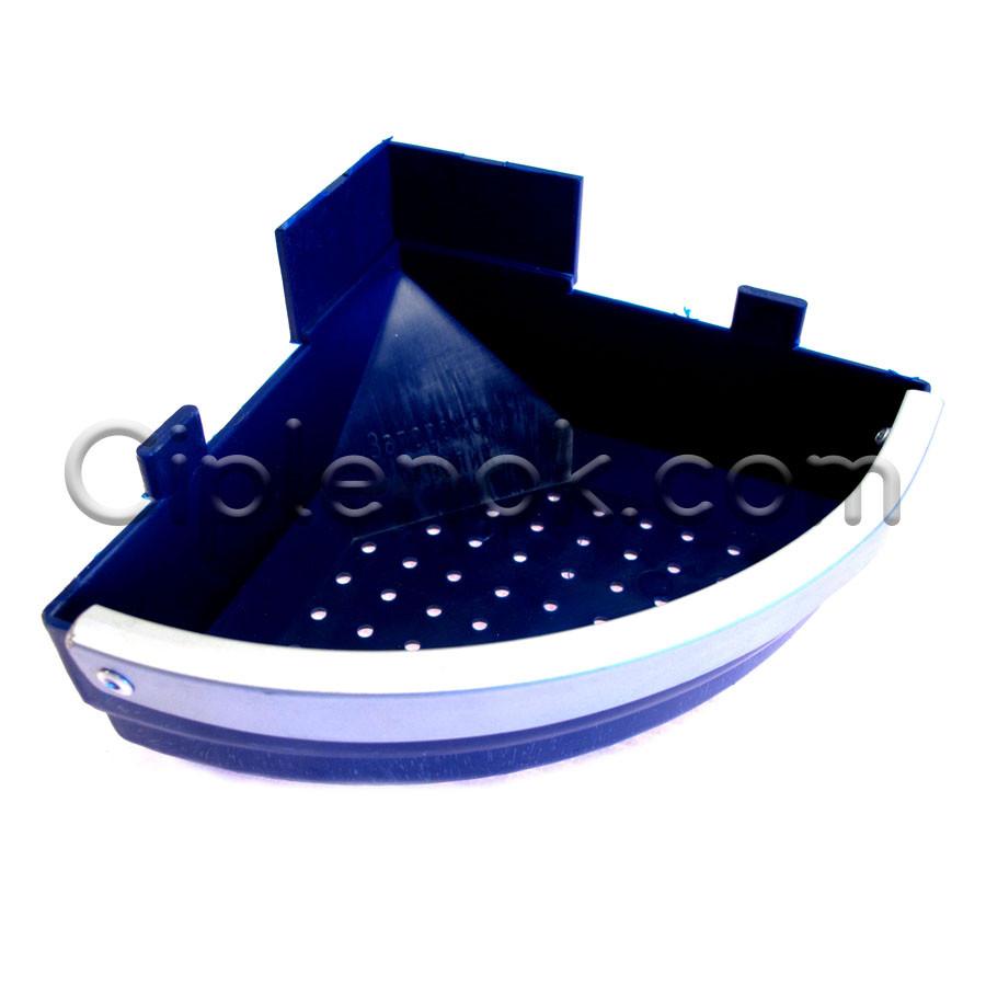 Лотковая кормушка для кроликов угловая 0,4 л / 0,3 кг (ЛКУ-1) пластик