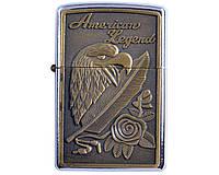 """Зажигалка бензиновая """"Американская легенда"""" AM-120-2-2, 3 вида, птица"""
