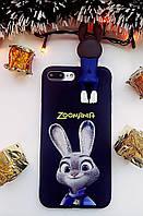 Силиконовый чехол Зверополис iPhone 7 Plus