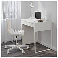 Компьютерный стол MICKE 73x50 см белый