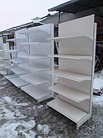 Стеллаж металлический линии 3 м.,5 м., 2,8 м.,3,6 м.4,8 м.бу., купить стеллаж б у.