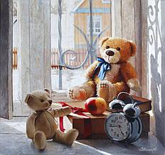 Картина по номерам Мишки Тедди
