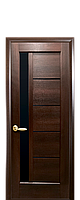 """Межкомнатные двери """"Грета"""" с черным стеклом, фото 1"""