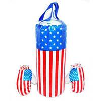 Боксерский набор Америка средний (груша и перчатки ВХ-12-03