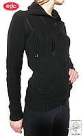 Кофта на пуговицах EDC р. S 42 черная обтягивающая женская весенняя демисезонная