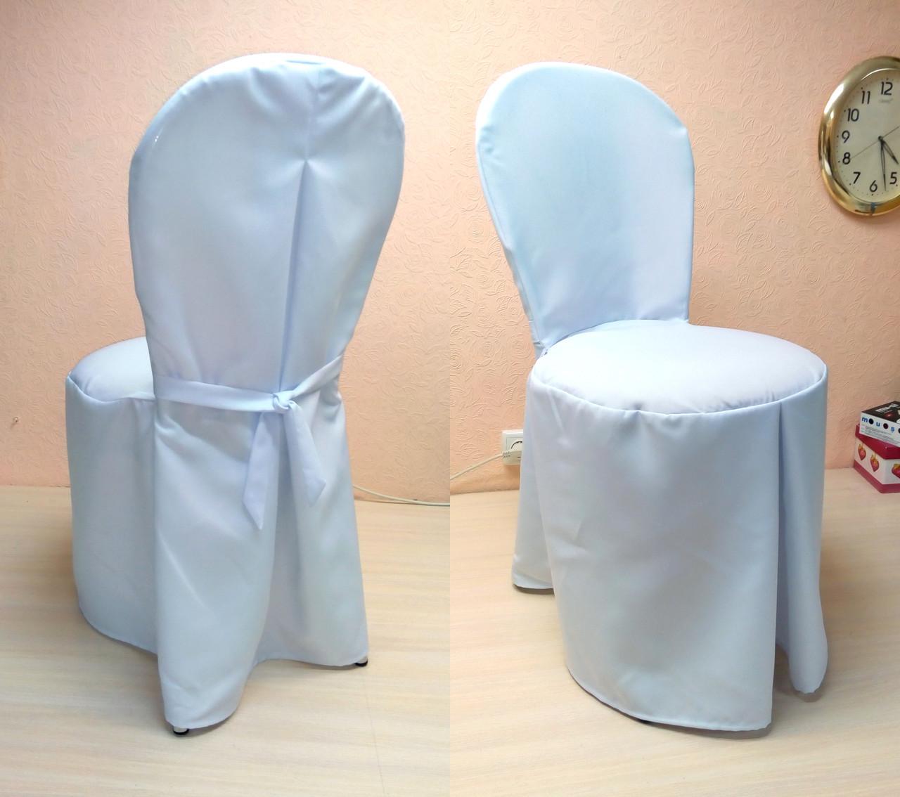 """Чохол на стілець Віденський/Лілія"""" з міцної легкої тканини З поясом"""