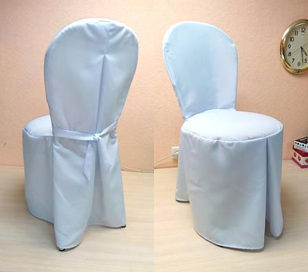 """Чохол на стілець Віденський/Лілія"""" з міцної легкої тканини З поясом, фото 2"""