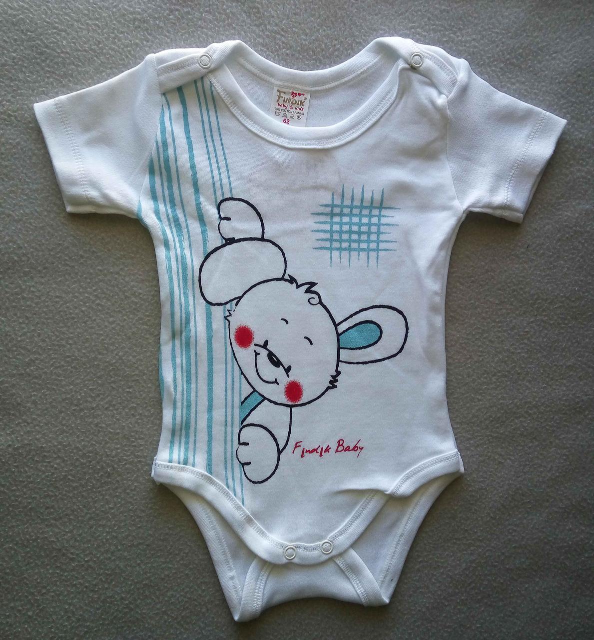 Боди с коротким рукавом для новорожденных 6-18 мес, Турция, оптом