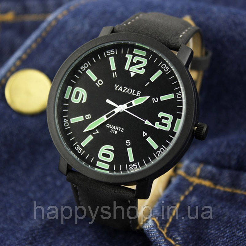Часы мужские YAZOLE neon (Black)