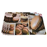 Комплект из 4-х сервировочных ковриков на обеденный стол 43,5х28,5 см.