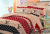 Комплект постельного белья ТМ TAG Евро, постельное белье Евро BR852